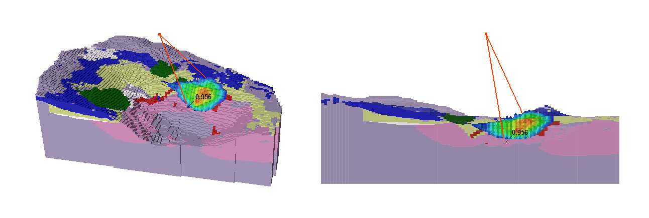 Figure 1: Slide3 Analysis of a Block Model for an Open Pit