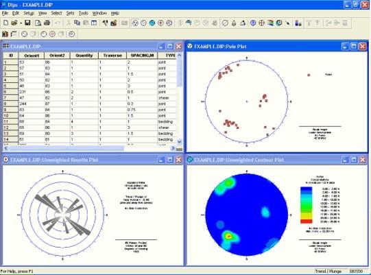 Image 2: Dips Interface in Microsoft Windows Version