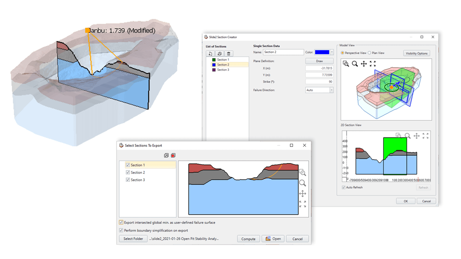 Figure 2: Slide2 Section Creator Dialog Box