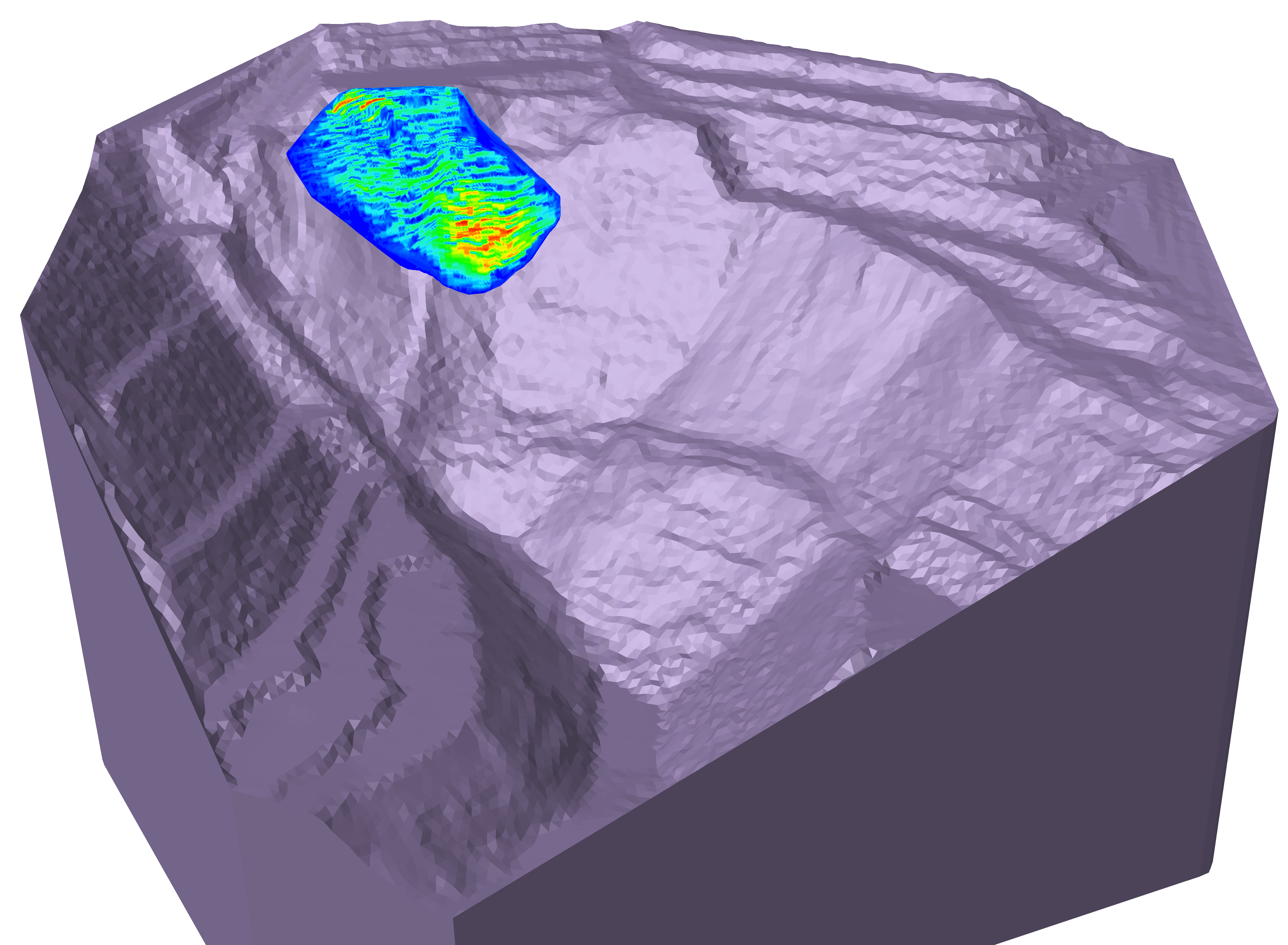 Figure 1. Overlay of radar map values on modeling results