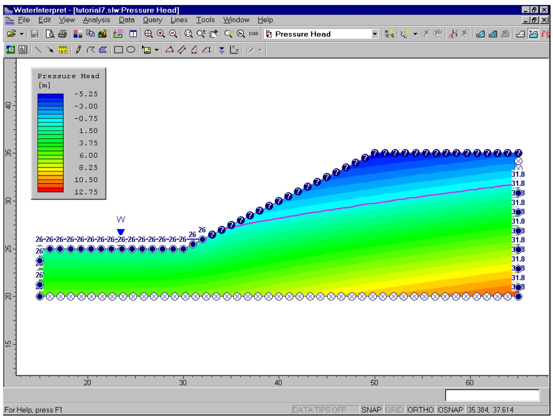 Figure 4. Groundwater analysis in Slide2 v4.0