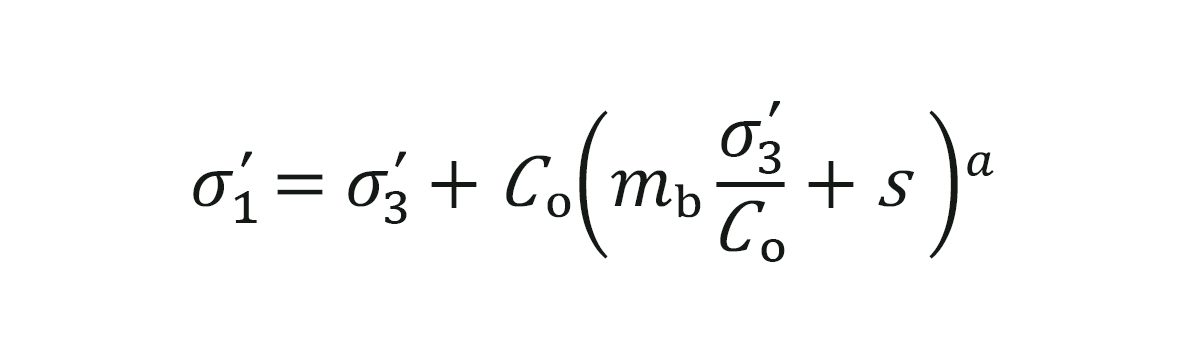 Figure 3: Generalized Hoek-Brown Failure Criterion Equation