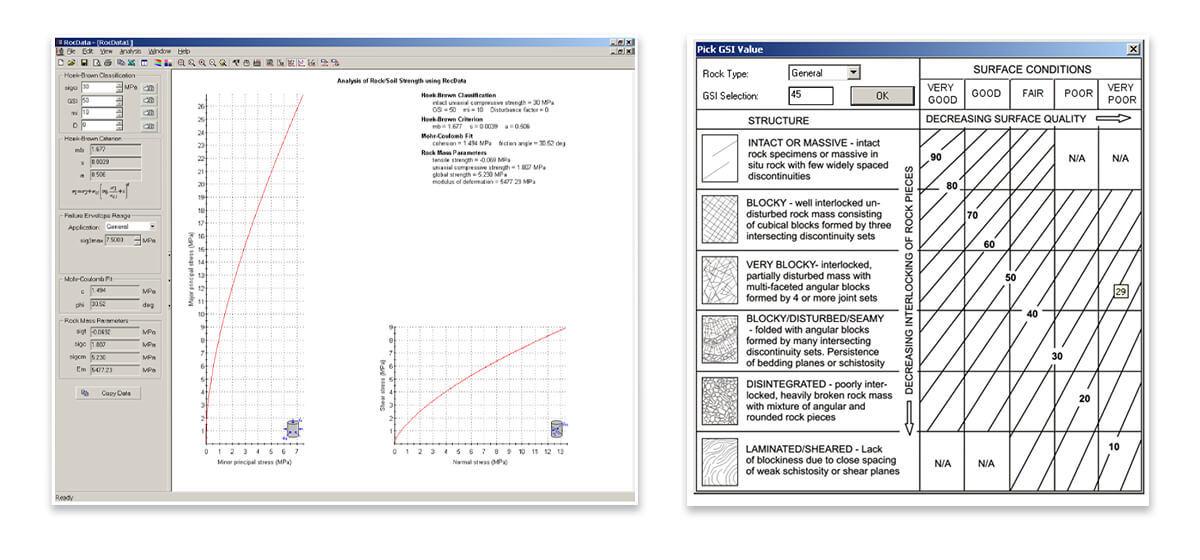 RocData Version 3 Software Screenshots