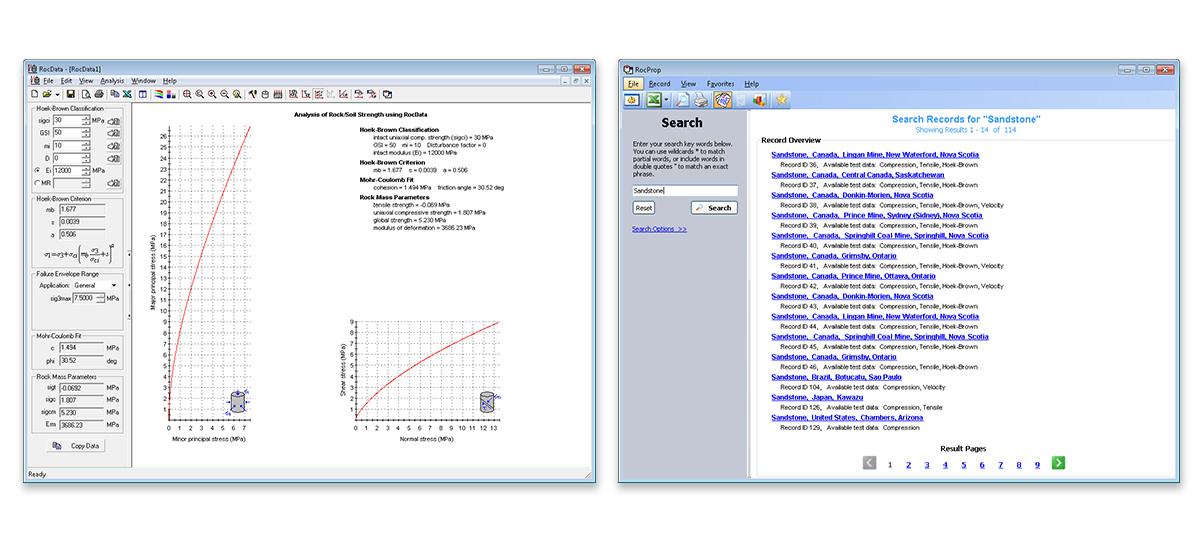 RocData Version 4 Software Screenshots
