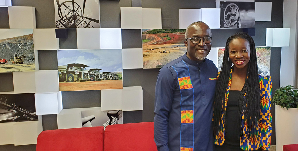 Dr. Reginald Hammah and Ruth Obeng-King from the Rocscience Africa Team