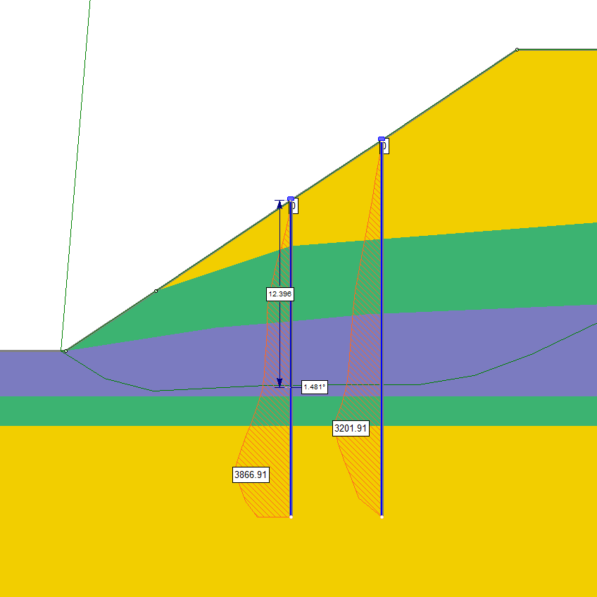 RSPile Figure 4: Powerful integration with Slide2 for slope stability analysis.