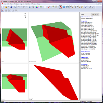SWedge Figure 5: Model tetrahedral wedges using basal joint.