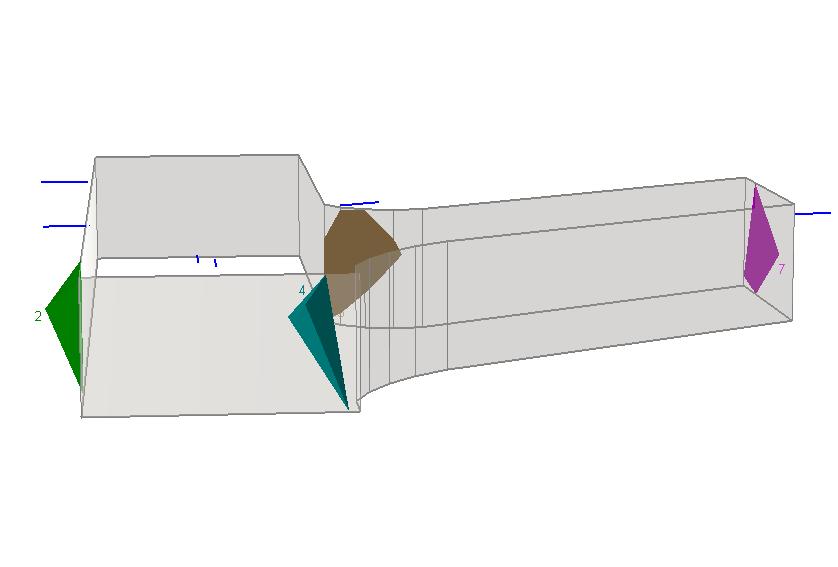 UnWedge Figure 2: Model intersecting tunnels in UnWedge.