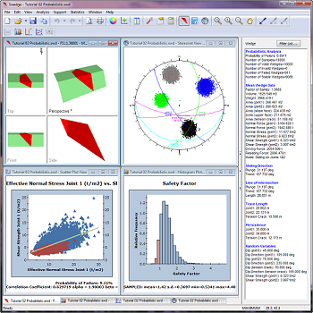 SWedge Figure 1: Probabilistic analysis results in SWedge.